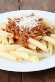 Penne bolognese Stock Images