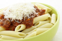 Penne Bolognese stock photos