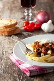 Penne bolognese Royalty Free Stock Images
