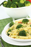 Penne with broccoli Royalty Free Stock Photo
