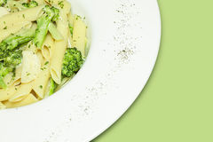 Penne with broccoli Royalty Free Stock Photography