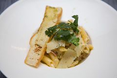 Penne Carbonara Photos stock