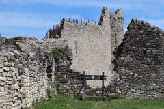 Penne cathare kasteel van zuiden van Frankrijk stock afbeelding