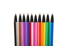 Penne colorate isolate Immagine Stock Libera da Diritti