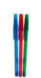 Penne colorate isolate Fotografia Stock