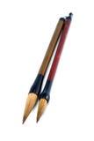 Penne della spazzola del cinese Immagini Stock Libere da Diritti