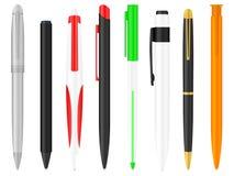 Penne di Ballpoint impostate illustrazione di stock