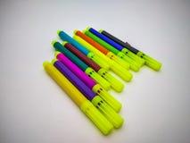 Penne di schizzo in un fondo bianco immagine stock
