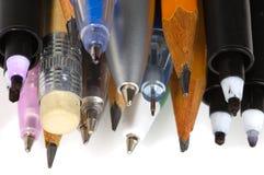 Penne e matite 3 Fotografia Stock
