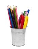 Penne e matite Immagini Stock
