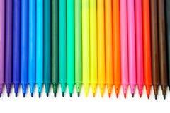 Penne Felt-Tip multicolori Fotografie Stock