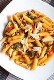 Penne with herbs Royalty Free Stock Image