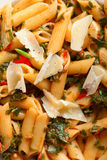Penne with herbs Stock Photography