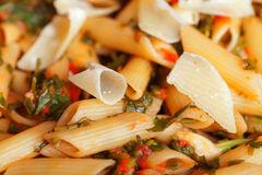 Penne with herbs Royalty Free Stock Photos