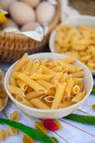 Penne home-made pasta Royalty Free Stock Images