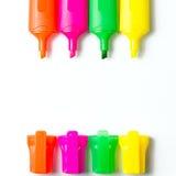 Penne multicolori dell'evidenziatore Immagine Stock Libera da Diritti
