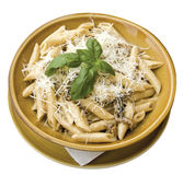 Penne with mushroom Stock Images