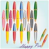 Penne nei colori differenti Immagini Stock