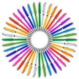 Penne nel cerchio Immagini Stock