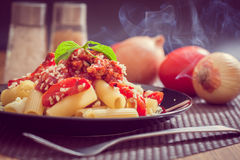 Penne Pasta Fotografie Stock