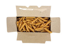 Penne Pasta in Box Royalty Free Stock Images