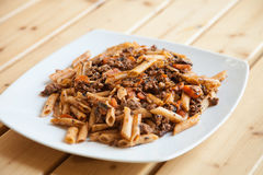 Penne pasta  with chicken Royalty Free Stock Photo