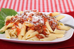 Penne Pasta Meal Royalty Free Stock Photos