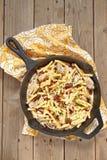 Penne pasta med feg och kräm- sås Royaltyfria Foton