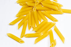 Penne pasta. One of many kinds of pasta. Delicious for cooking Royalty Free Stock Photos