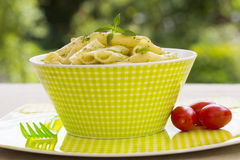 Penne Pasta with Pesto Sauce. Royalty Free Stock Image