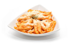 Penne pasta on the plate Stock Photography