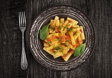 Penne Pasta with tomato royalty free stock images