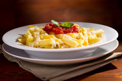 Penne pasta with tomato sauce Royalty Free Stock Photo