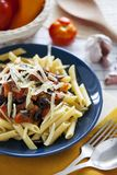 Penne Pasta with vegetables royalty free stock photos