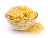 Penne pasta  on white background Stock Photo