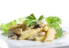 Penne Pasta With Fish Royalty Free Stock Image