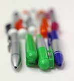 Penne, perno, perni, banco, segretaria Immagini Stock Libere da Diritti