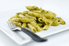 Penne with Pesto sauce Stock Image