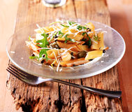 Penne with pickled peppercorns and capers Royalty Free Stock Photo