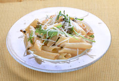 Penne with pickled peppercorns and capers Royalty Free Stock Photography