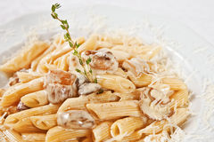 Penne with porcini mushrooms Royalty Free Stock Photo