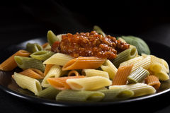 Penne rigate pasta Stock Images