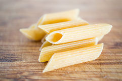 Penne rigate uncooked Royalty Free Stock Photo