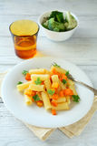 Penne with roasted pumpkin Royalty Free Stock Photos