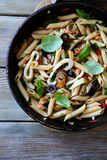 Penne with roasted seafood Royalty Free Stock Images