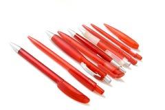 Penne rosse Fotografia Stock Libera da Diritti