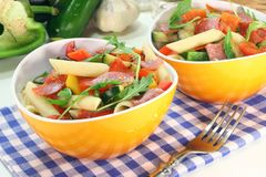 Penne Salad Stock Photo
