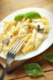 Penne with sauce Royalty Free Stock Images