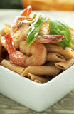 Penne with Shrimp Royalty Free Stock Image