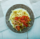 Penne with squid, Royalty Free Stock Image